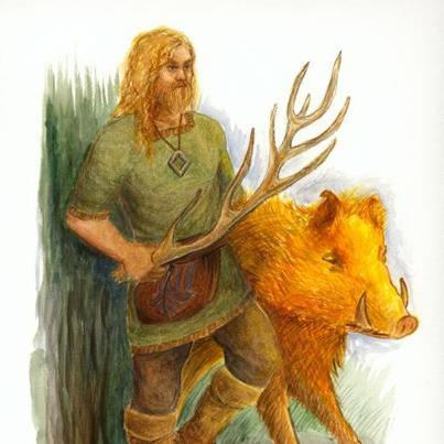 Скандинавский Бог Фрейр