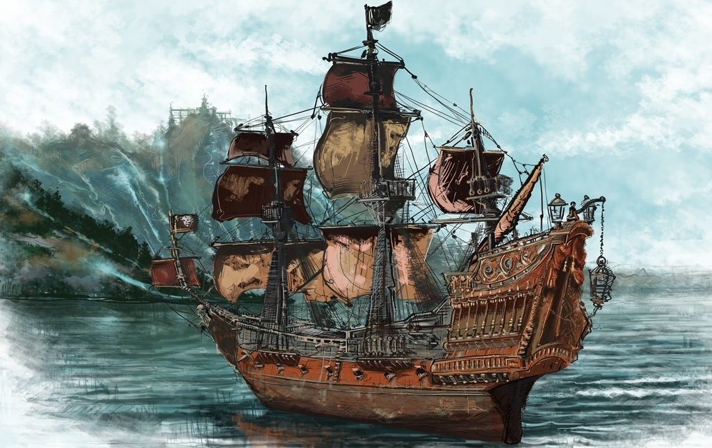 Месть Королевы Анны - корабль