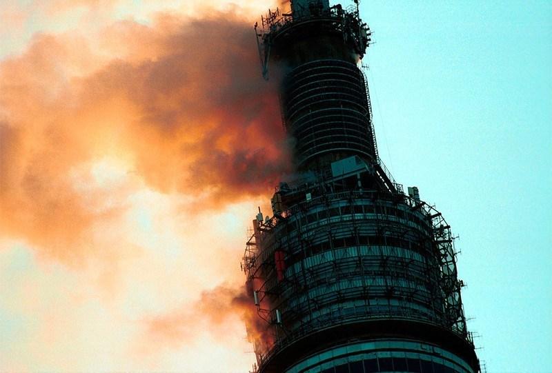 Пожар на останкинской телебашне в москве 27 августа 2000 года