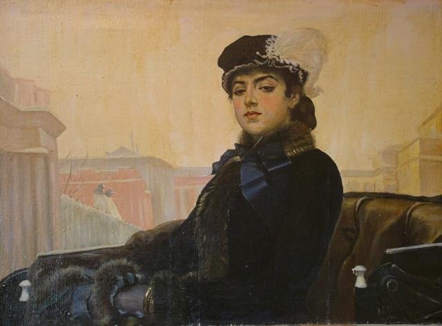 только неизвестная картина русского художника папа курсе