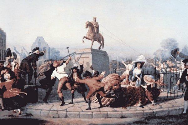 Снос памятника Георгу III